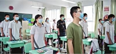 武汉初三学生返校 正式复学复课